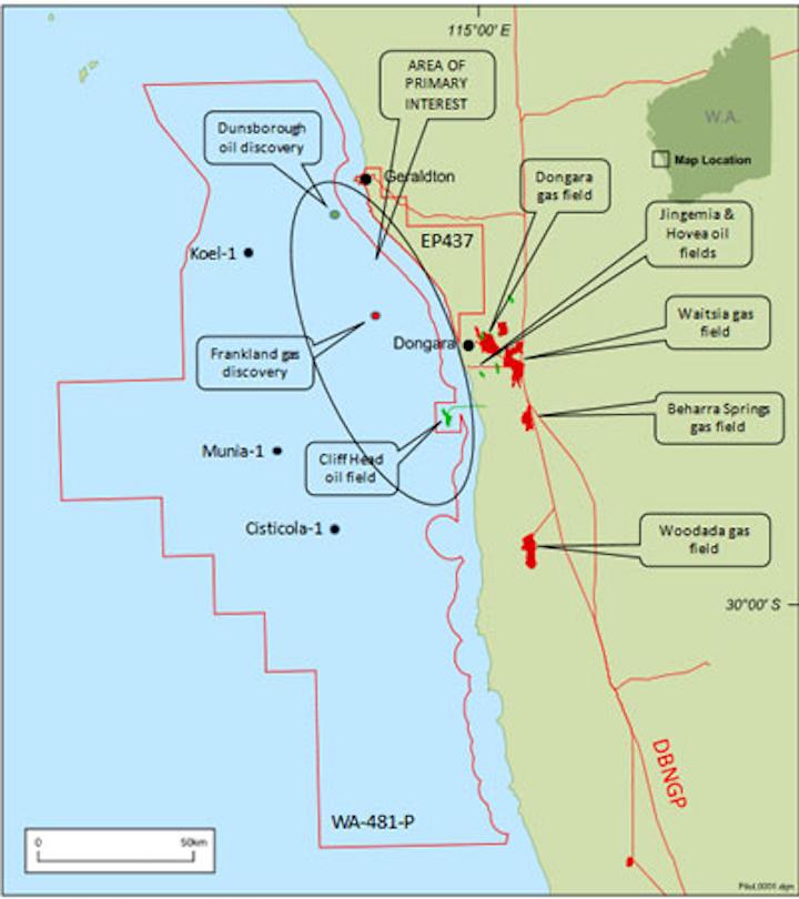 WA-481-P in the North Perth basin offshore Western Australia
