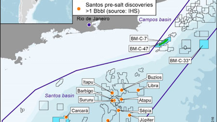 BM-S-8 concession in the Santos basin offshore Brazil