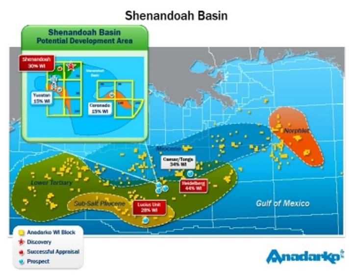 Shenandoah field in the deepwater Gulf of Mexico