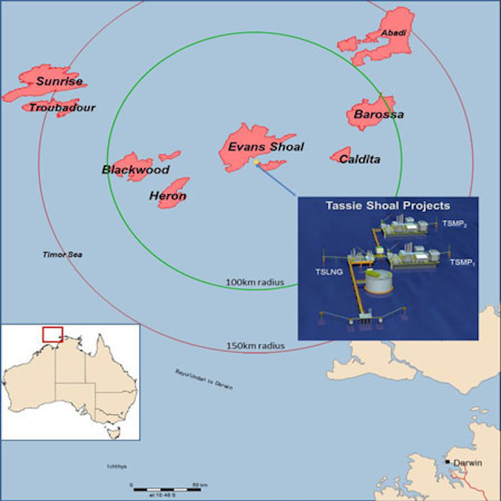 Tassie Shoal Projects offshore northern Australia