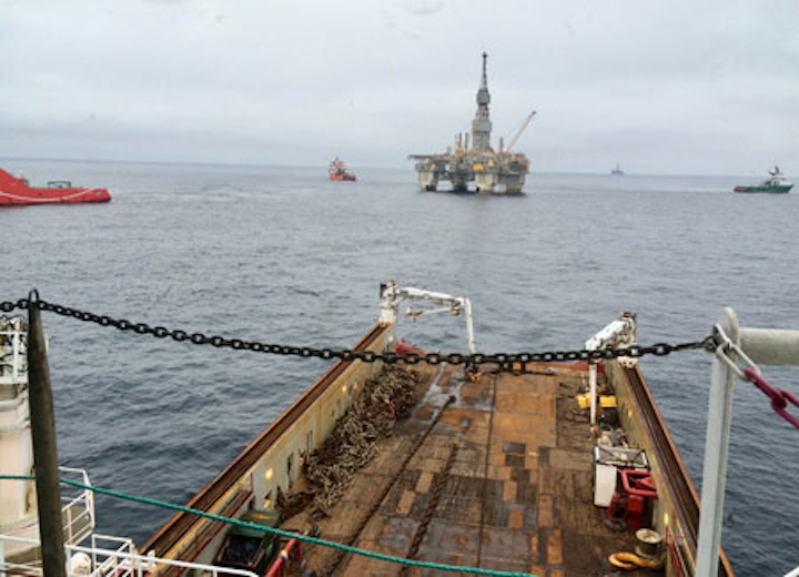 Disconnection and towing operations of the Njord A semisubmersible platform