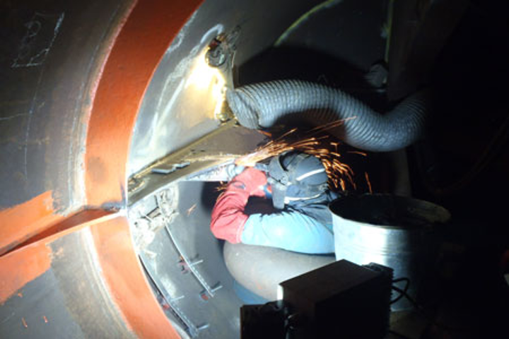 Whittaker Engineering water-backed welding procedure