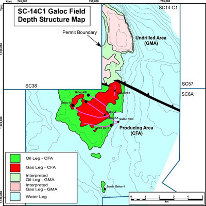 Galoc field offshore the Philippines