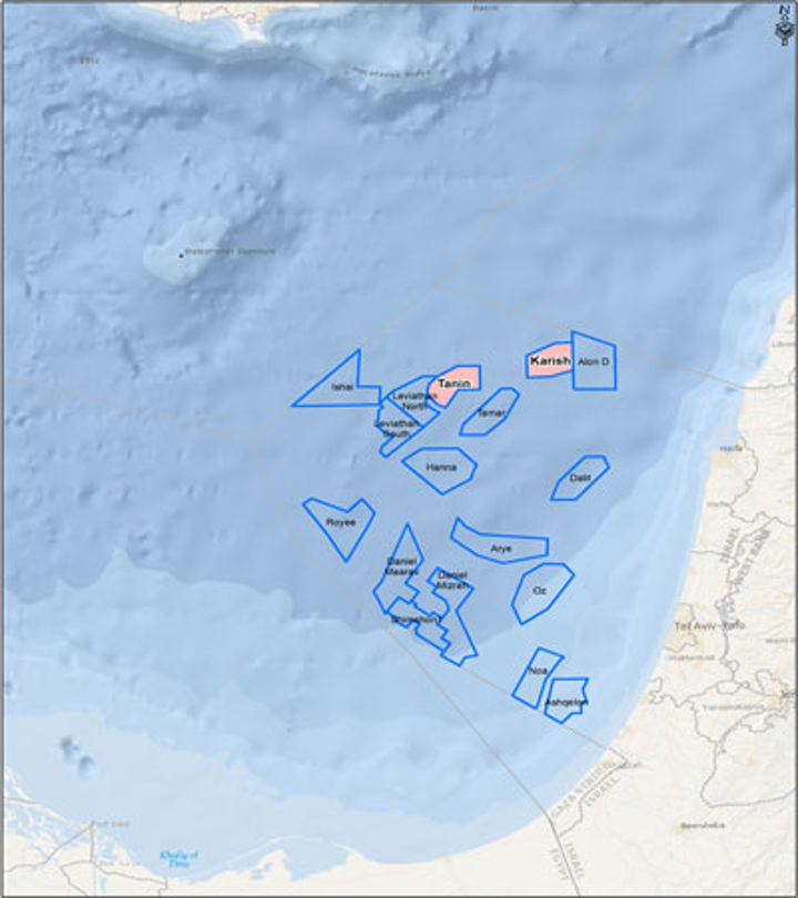 I/16 Tanin and I/17 Karish leases offshore Israel