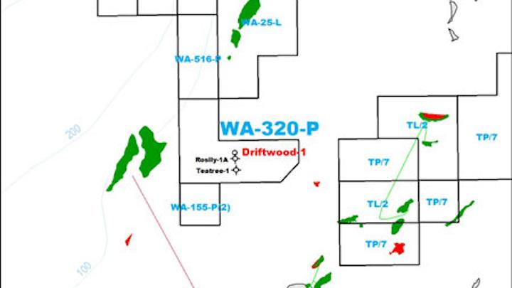 WA-320-P permit in the Barrow sub-basin of the northern Carnarvon basin offshore Western Australia