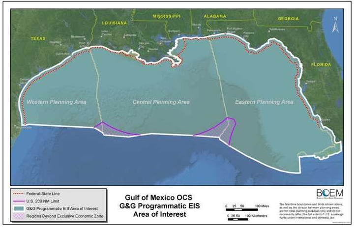 Gulf of Mexico OCS draft programmatic environmental impact statement on G&G surveys