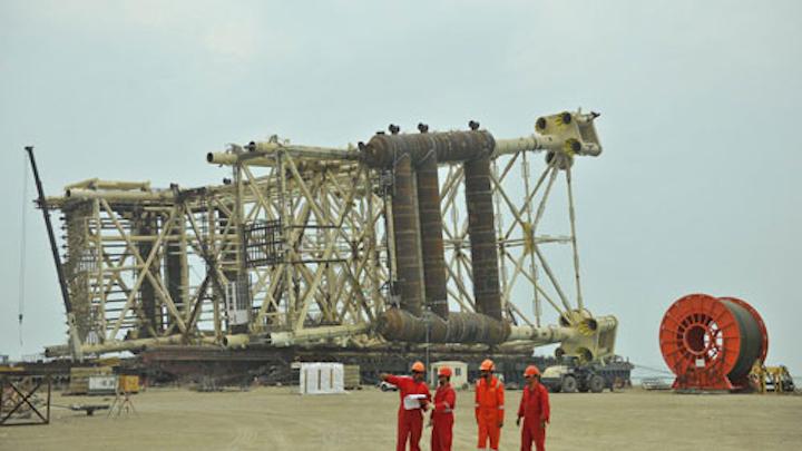 Shah Deniz Stage 2 production and risers platform jacket