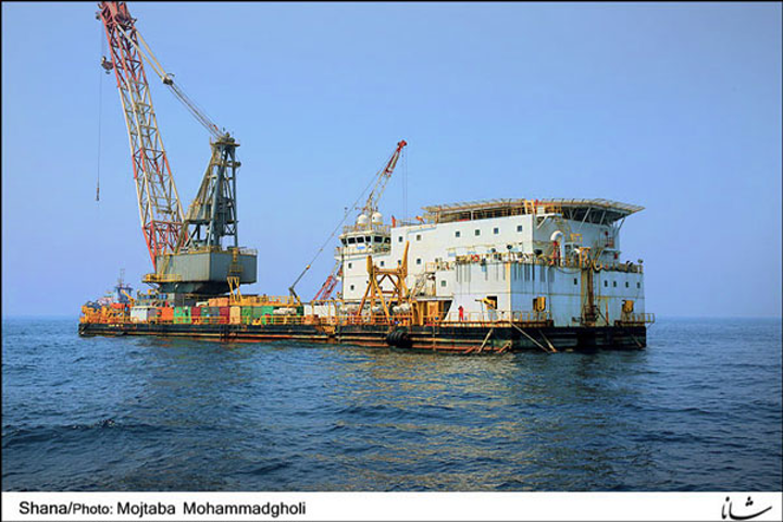 South Pars platform in the Persian Gulf