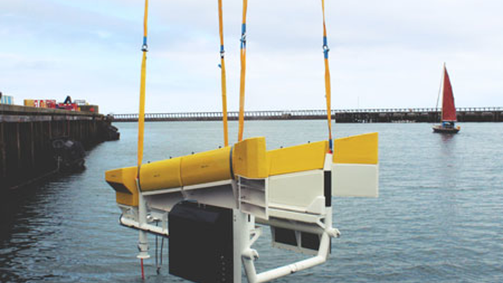 The AUV systems designed and manufactured by Osbit during testing at the Port of Blyth