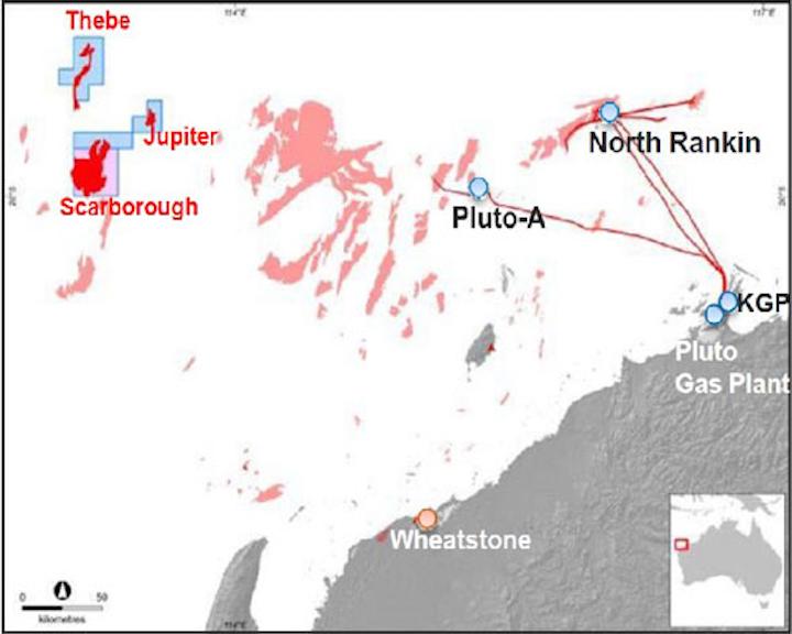 Carnarvon basin offshore Western Australia