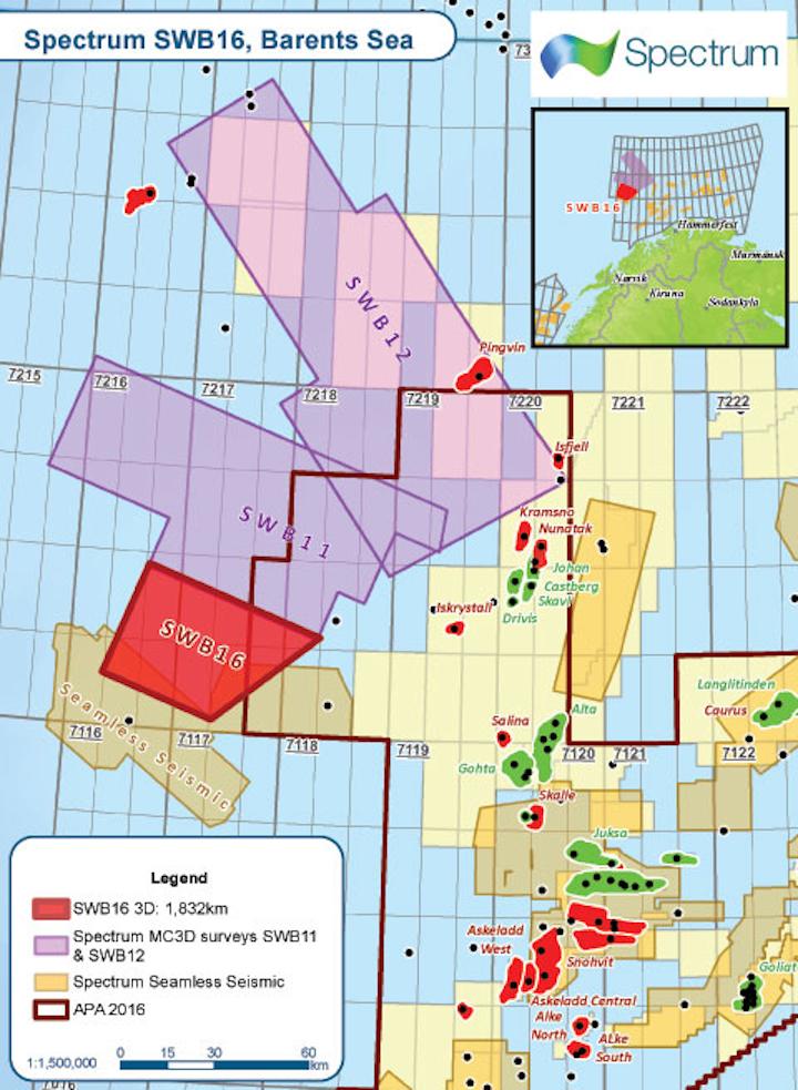 Multi-client 3D seismic survey in the western Barents Sea