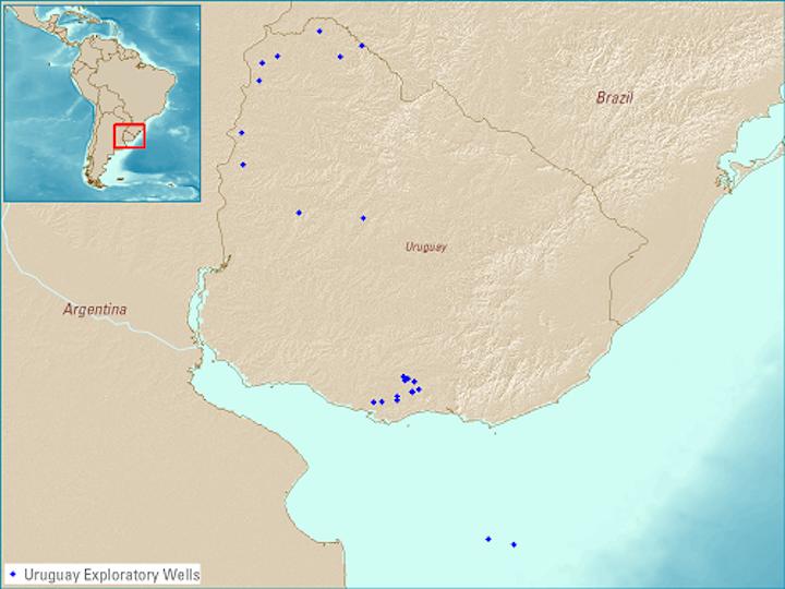 Uruguay exploratory wells
