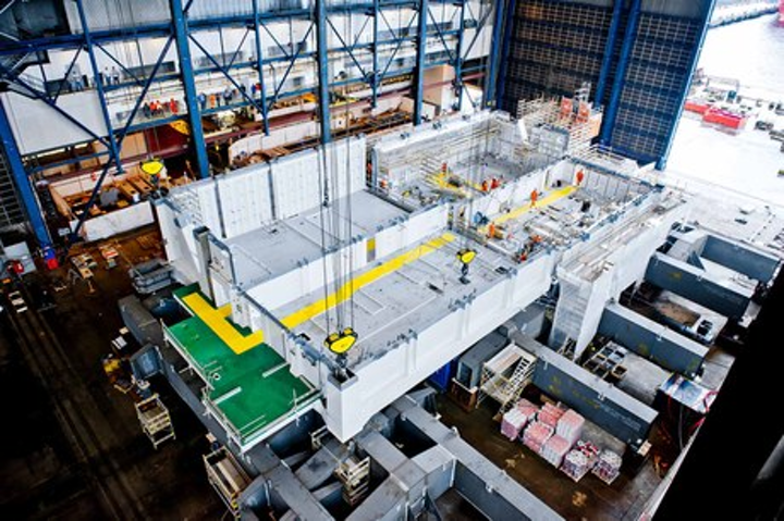 First deck of the Johan Sverdrup drilling support module