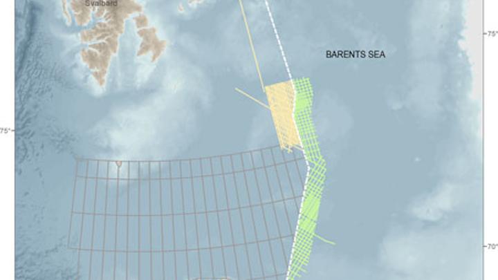 Russian-Norwegian median line in the Barents Sea