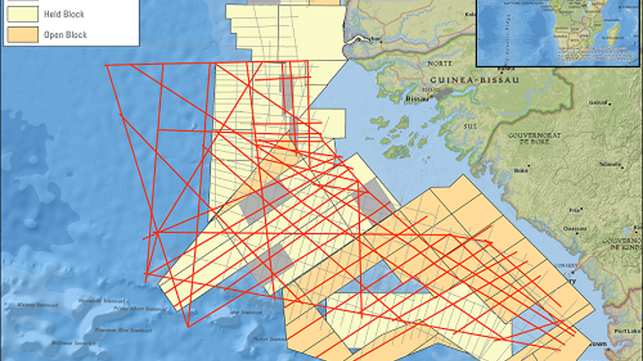 Northwest African Atlantic Margin 2D seismic survey