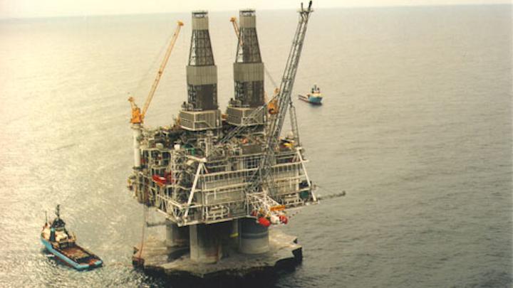 Hibernia platform offshore Newfoundland