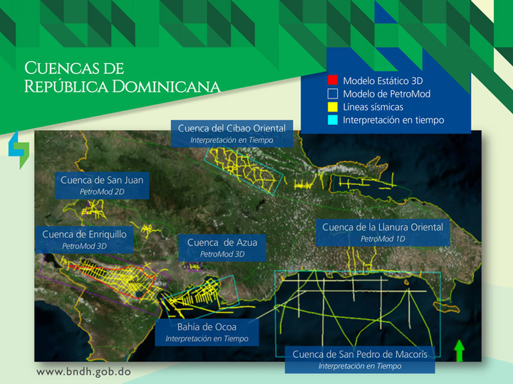 Hydrocarbon-bearing basins in the Dominican Republic