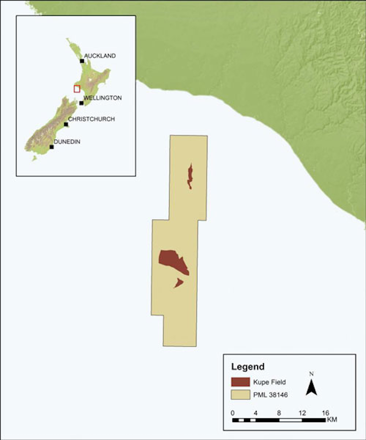 Kupe offshore New Zealand