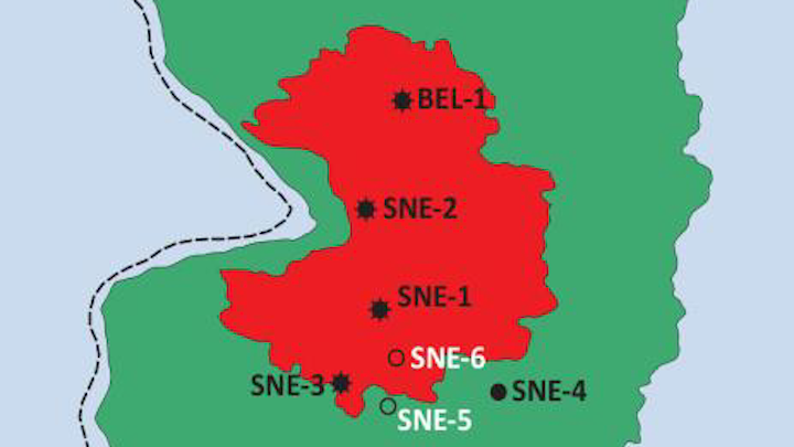 SNE field outline offshore Senegal