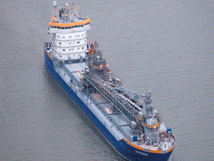 Flexible fallpipe vessel Stornes