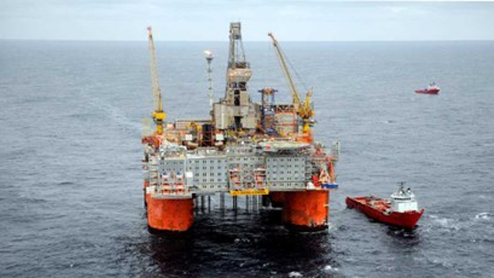 Snorre A semisubmersible platform offshore Norway