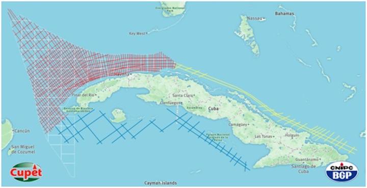 2D multi-client survey offshore Cuba