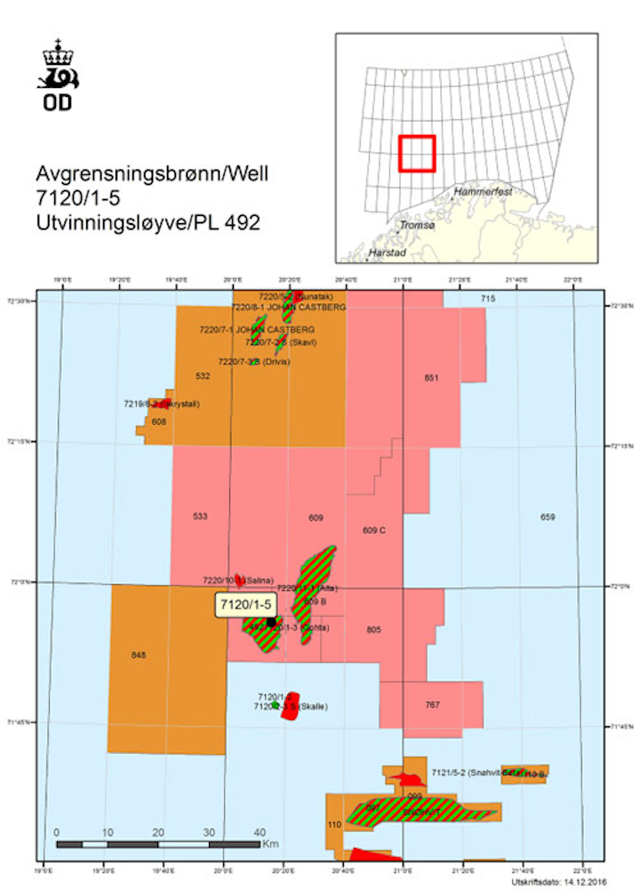 Appraisal well 7120/1-5 on license 492 for Lundin in the Barents Sea