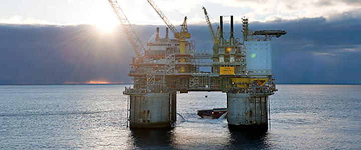 Troll B platform in the North Sea