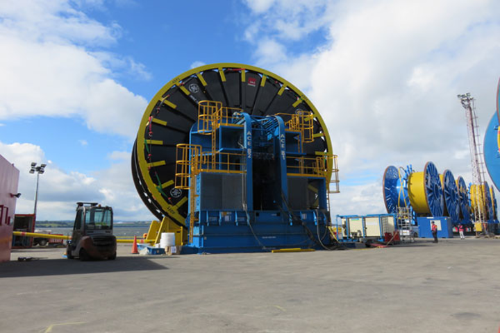 ACE Winches' 500-metric ton reel drive system