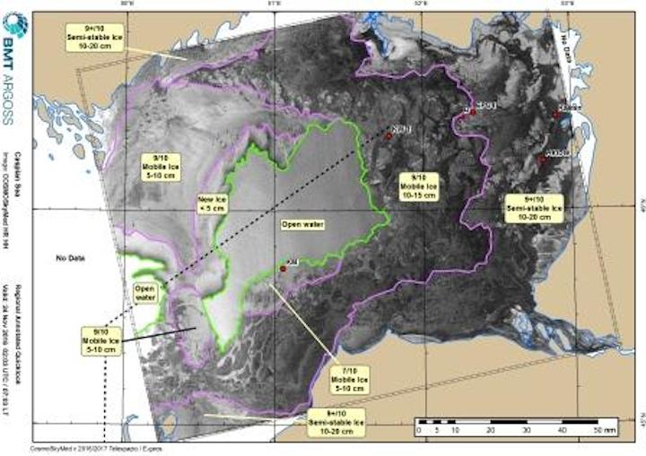 BMT ARGOSS ice charting capability