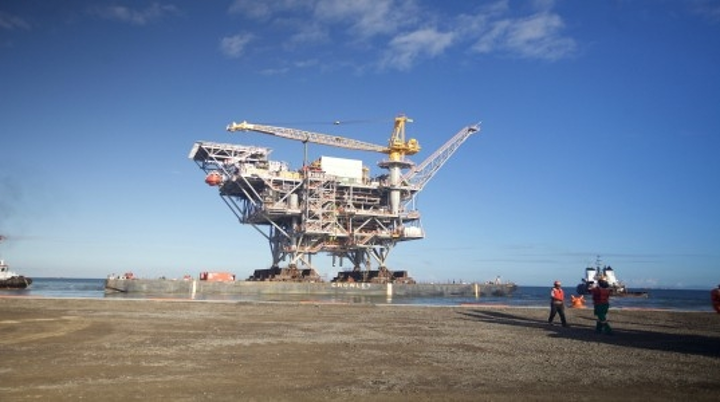 Juniper gas field platform offshore Trinidad and Tobago