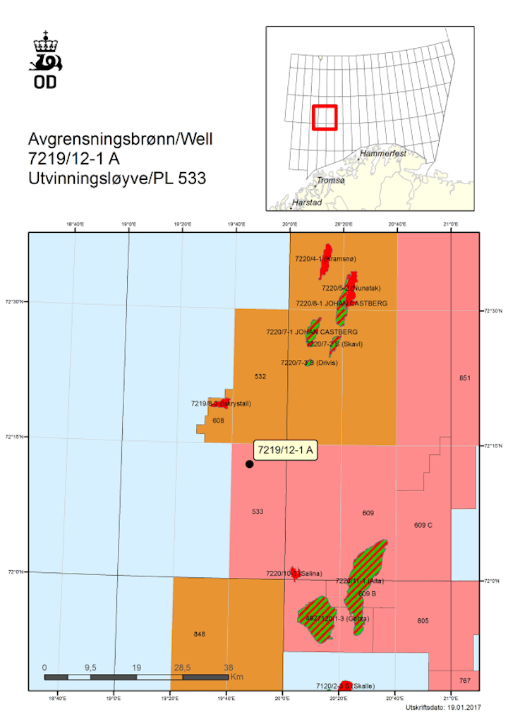 Appraisal well 7219/12-1 A in production license 533 in the Barents Sea