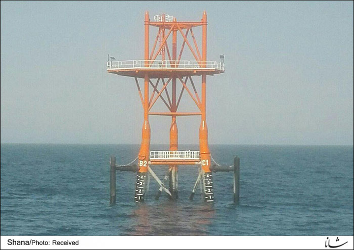 SPB13 platform offshore Iran