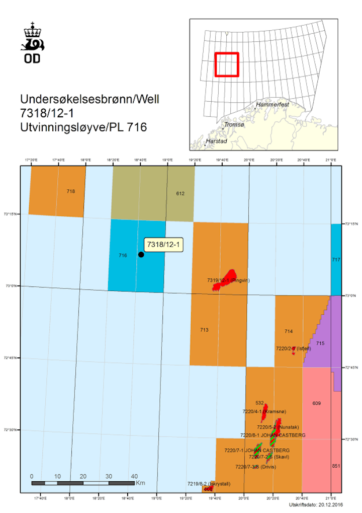 Norwegian Petroleum Directorate has authorized Eni to drill an exploration well in the Barents Sea