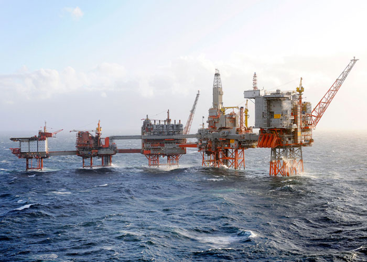Valhall in the southern Norwegian North Sea