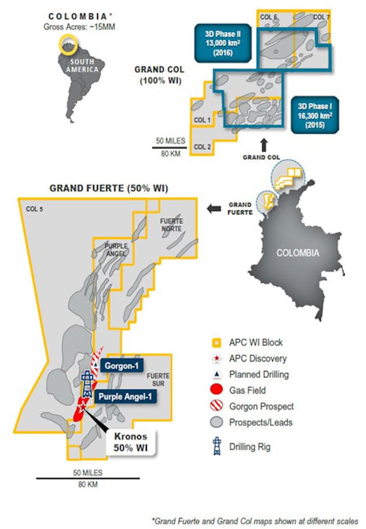 Anadarko offshore Colombia