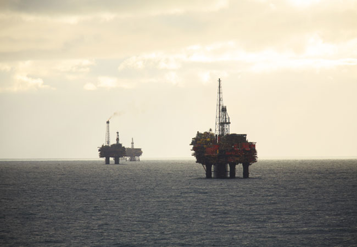 Brent oil and gas field in the UK northern North Sea