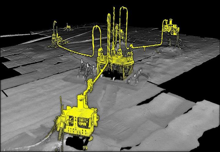 Deepwater subsea 3D laser survey offshore Ghana