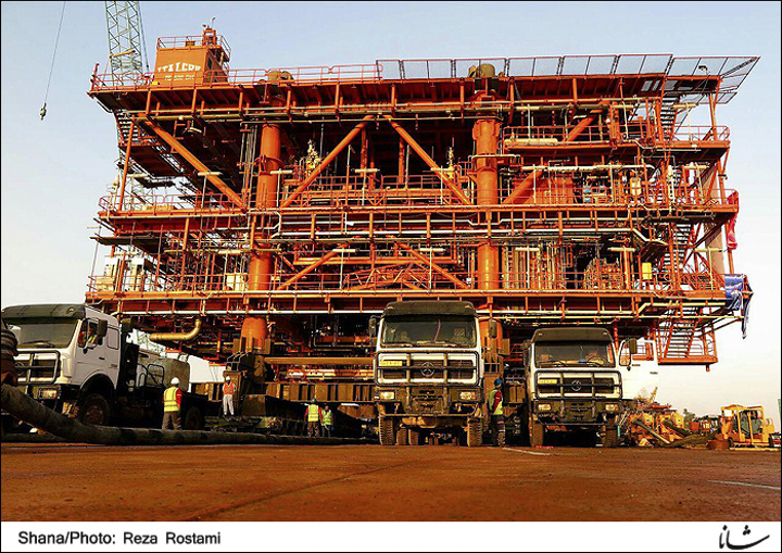 SADRA South Pars Phase 22 gas project platform