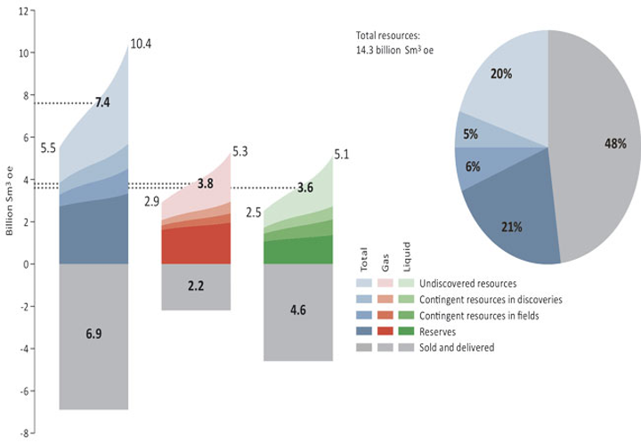 Petroleum resources and estimate uncertainty per Dec. 31, 2016