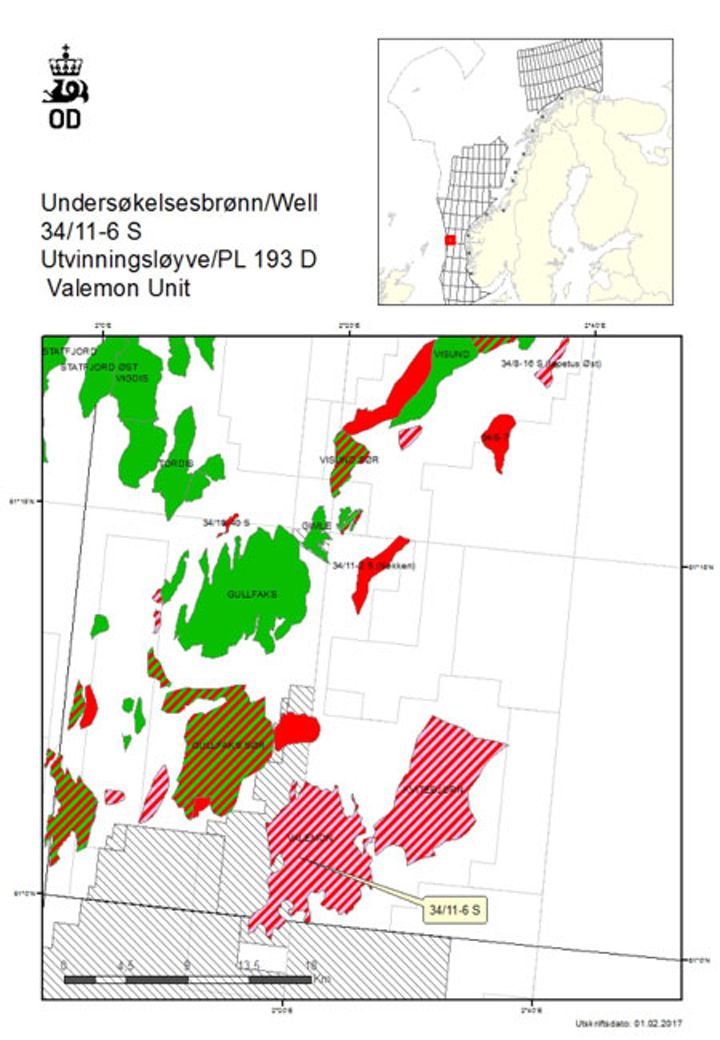 West flank of the Valemon field in the Norwegian North Sea