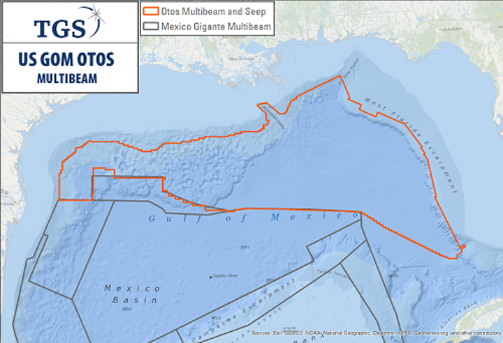Otos multibeam and seep study in the US Gulf of Mexico