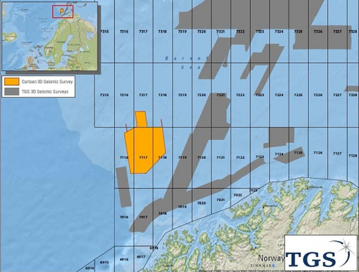 Carlsen 3D seismic survey in the Barents Sea