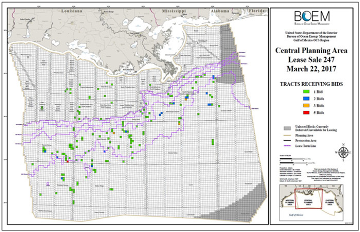 Central Gulf of Mexico planning area Lease Sale 247