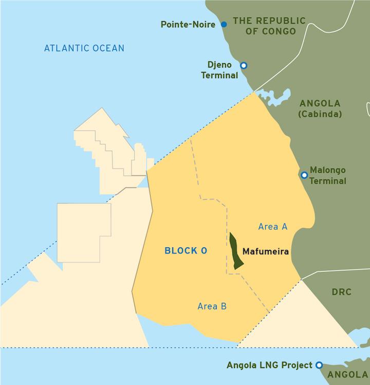 Mafumeira Sul oil and gas project offshore Angola