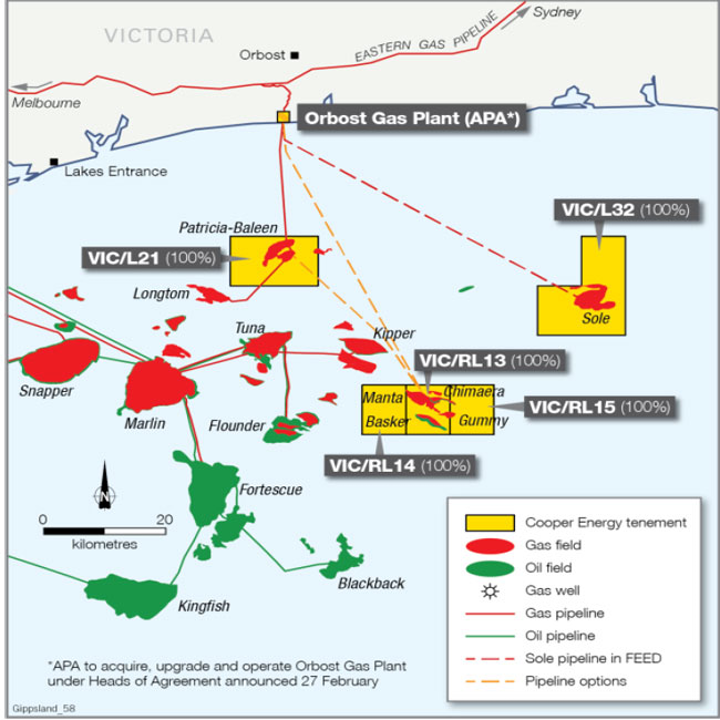Sole gas field development project in the Gippsland basin offshore Victoria