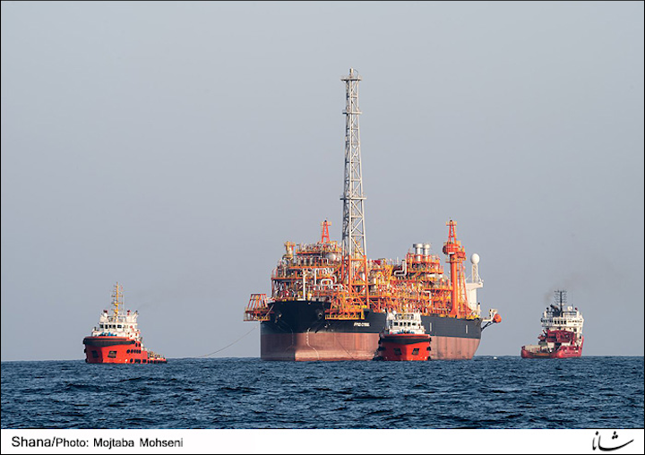 FPSO Cyrus at the oil layer of the South Pars gas field in the Persian Gulf