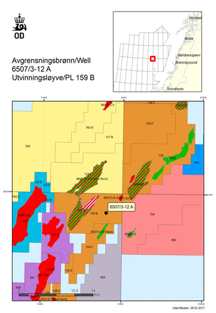 Appraisal well 6507/3-12 A on PL 159 B in the Norwegian Sea