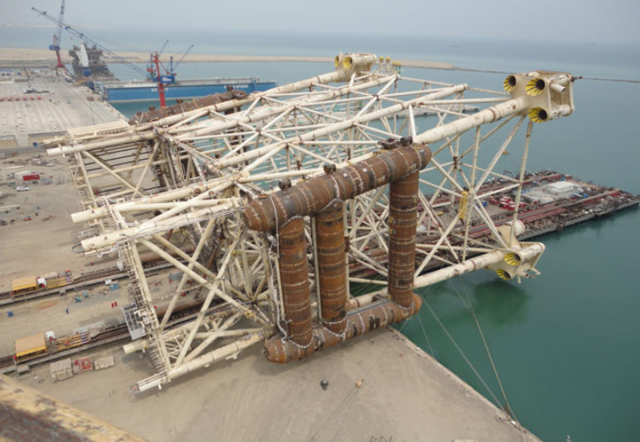 Shah Deniz 2 production and riser platform jacket