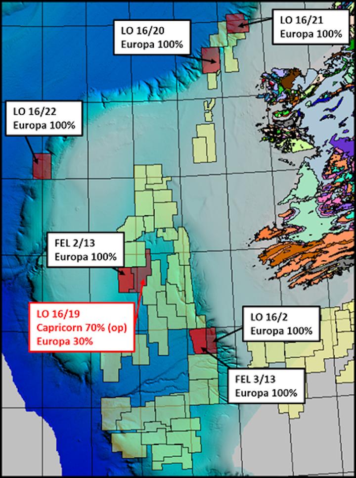 Licensing option 16/19 offshore western Ireland